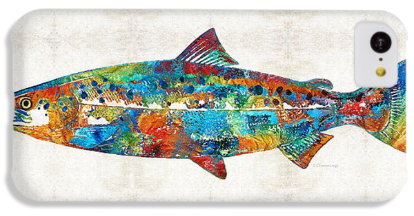 Fish Art Print - Colorful Salmon - By Sharon Cummings IPhone 5c Case by Sharon Cummings