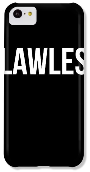 Flawless Poster IPhone 5c Case by Naxart Studio