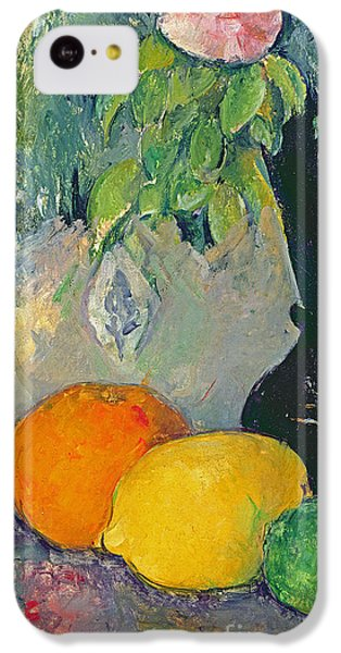 Flowers And Fruits IPhone 5c Case by Paul Cezanne