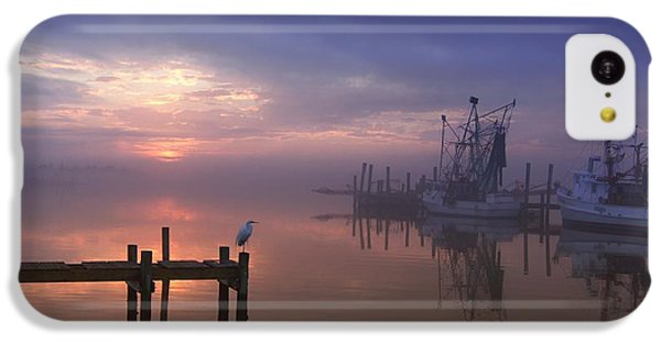 Foggy Sunset Over Swansboro IPhone 5c Case by Benanne Stiens