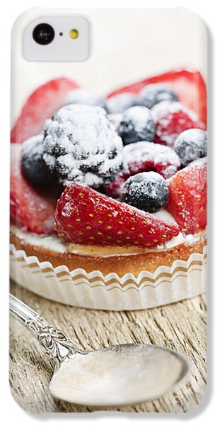 Fruit Tart With Spoon IPhone 5c Case by Elena Elisseeva