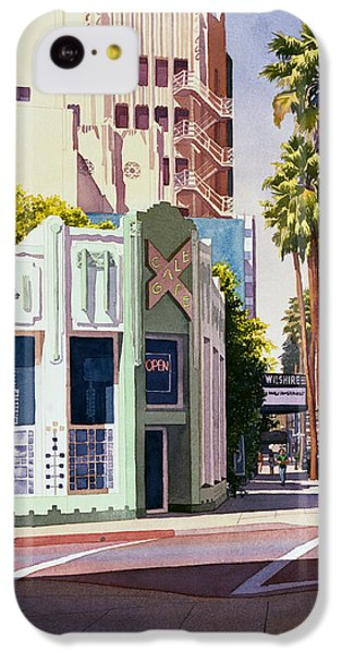 Gale Cafe On Wilshire Blvd Los Angeles IPhone 5c Case by Mary Helmreich