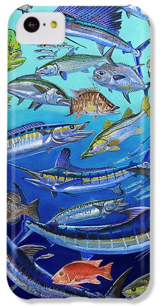 Gamefish Collage In0031 IPhone 5c Case by Carey Chen