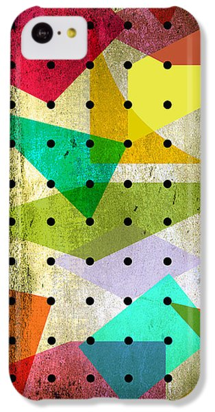 Geometric In Colors  IPhone 5c Case by Mark Ashkenazi