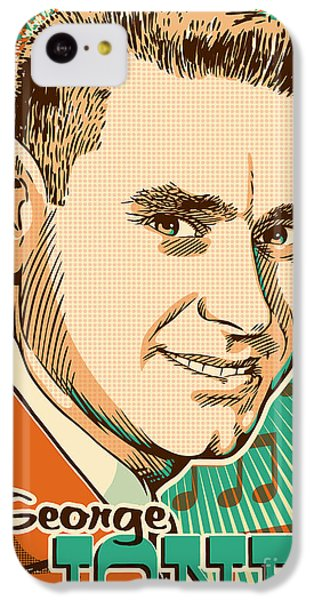 George Jones Pop Art IPhone 5c Case by Jim Zahniser