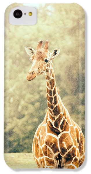 Giraffe In The Rain IPhone 5c Case by Pati Photography