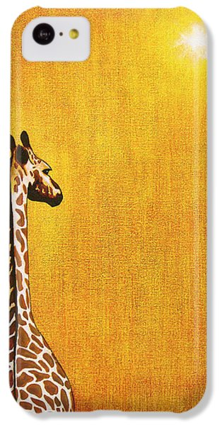 Giraffe Looking Back IPhone 5c Case by Jerome Stumphauzer