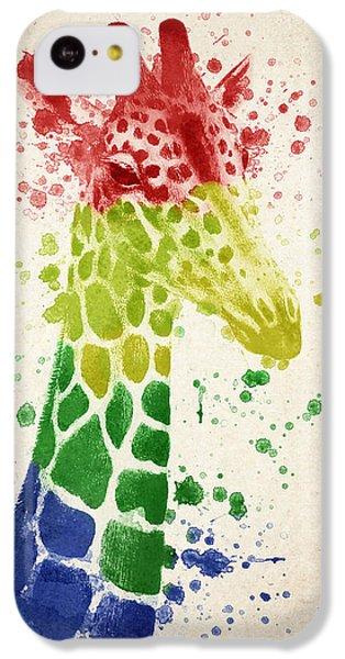 Giraffe Splash IPhone 5c Case by Aged Pixel