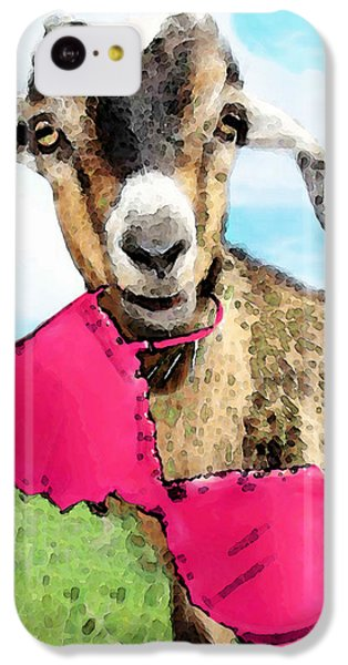 Goat Art - Oh You're Home IPhone 5c Case by Sharon Cummings