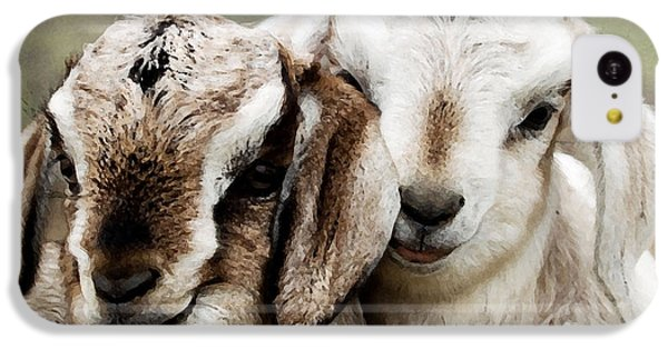 Goats Painting IPhone 5c Case by Marvin Blaine