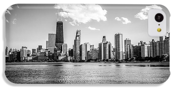 Gold Coast Skyline In Chicago Black And White Picture IPhone 5c Case by Paul Velgos