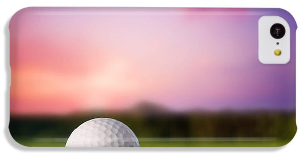 Golf Ball On Tee At Sunset IPhone 5c Case by Michal Bednarek