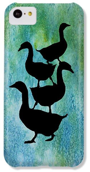 Goose Pile On Aqua IPhone 5c Case by Jenny Armitage
