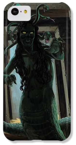 Gorgon Medusa IPhone 5c Case by Martin Davey