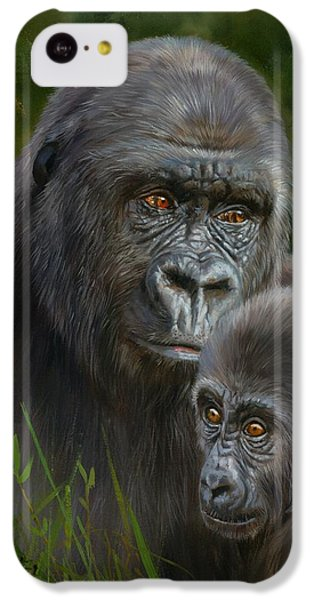 Gorilla And Baby IPhone 5c Case by David Stribbling