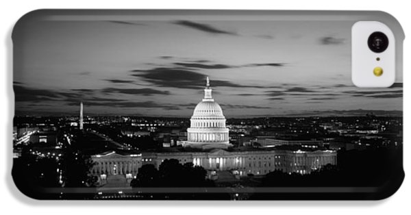 Government Building Lit Up At Night, Us IPhone 5c Case by Panoramic Images