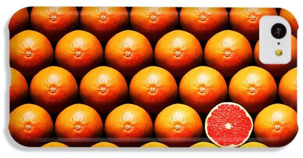 Grapefruit Slice Between Group IPhone 5c Case by Johan Swanepoel