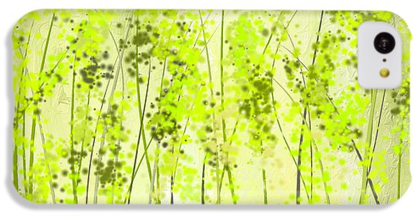 Green Abstract Art IPhone 5c Case by Lourry Legarde