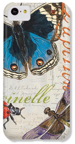 Grey Postcard Butterflies 4 IPhone 5c Case by Debbie DeWitt