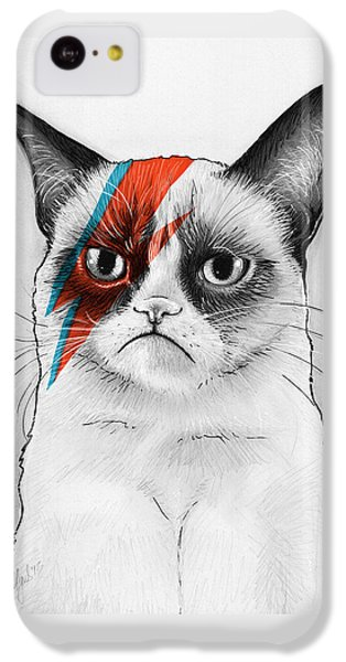 Grumpy Cat As David Bowie IPhone 5c Case by Olga Shvartsur