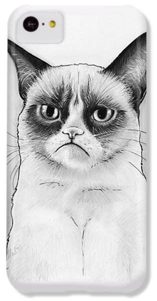 Grumpy Cat Portrait IPhone 5c Case by Olga Shvartsur