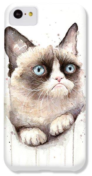 Grumpy Cat Watercolor IPhone 5c Case by Olga Shvartsur