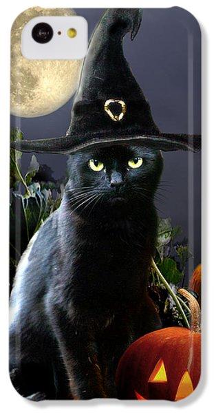 Witchy Black Halloween Cat IPhone 5c Case by Regina Femrite