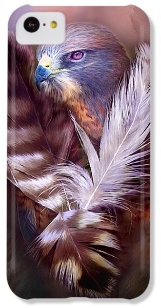 Heart Of A Hawk IPhone 5c Case by Carol Cavalaris