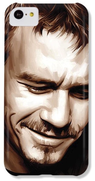 Heath Ledger Artwork IPhone 5c Case by Sheraz A