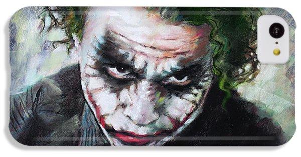 Heath Ledger The Dark Knight IPhone 5c Case by Viola El