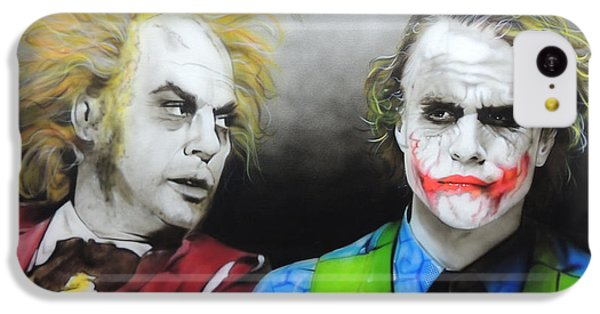 Health Ledger - ' Hey Why So Serious? ' IPhone 5c Case by Christian Chapman Art