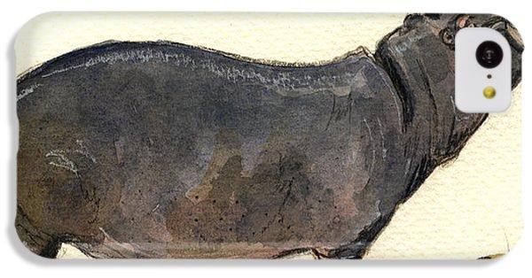Hippo Happy IPhone 5c Case by Juan  Bosco