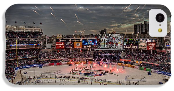 Hockey At Yankee Stadium IPhone 5c Case by David Rucker
