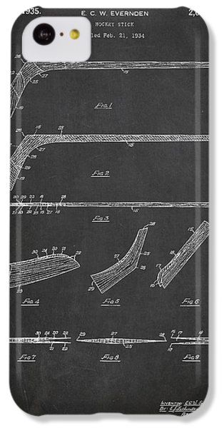 Hockey Stick Patent Drawing From 1934 IPhone 5c Case by Aged Pixel