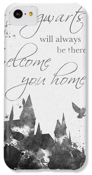Hogwarts Quote Black And White IPhone 5c Case by Rebecca Jenkins