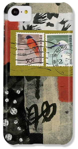 Hong Kong Postage Collage IPhone 5c Case by Carol Leigh