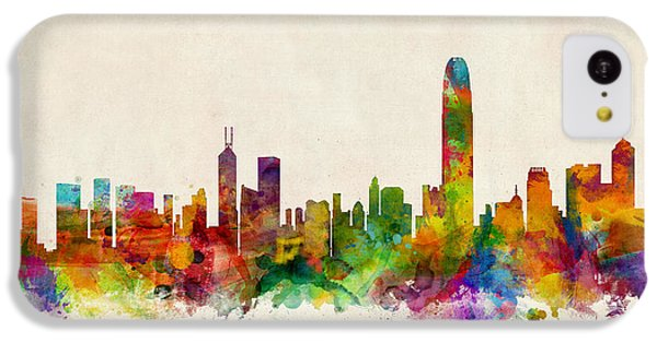 Hong Kong Skyline IPhone 5c Case by Michael Tompsett