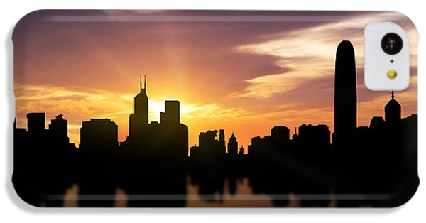 Hong Kong Sunset Skyline  IPhone 5c Case by Aged Pixel