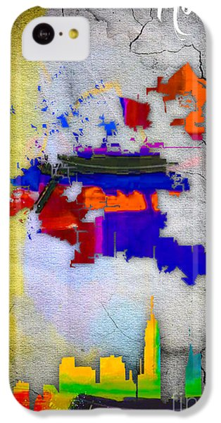 Houston Map And Skyline Watercolor IPhone 5c Case by Marvin Blaine