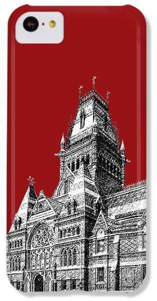 Harvard University - Memorial Hall - Dark Red IPhone 5c Case by DB Artist