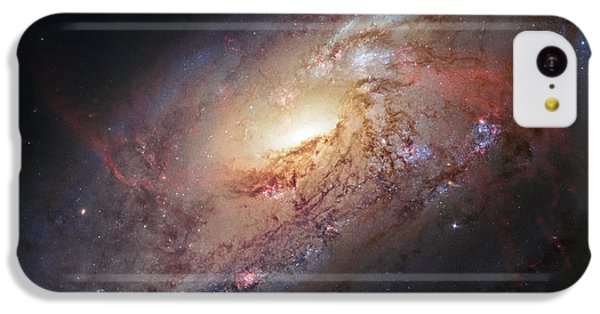 Hubble View Of M 106 IPhone 5c Case by Adam Romanowicz
