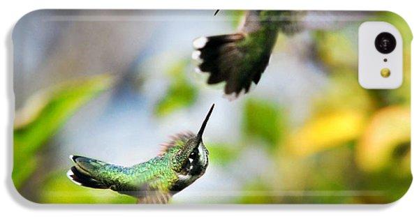 Hummingbirds Ensuing Battle IPhone 5c Case by Christina Rollo