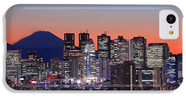 Iconic Mt Fuji With Shinjuku Skyscrapers IPhone 5c Case by Duane Walker