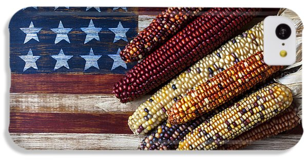 Indian Corn On American Flag IPhone 5c Case by Garry Gay