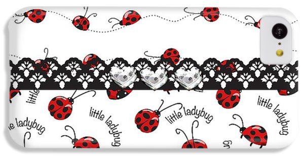 Innocent Ladybugs  IPhone 5c Case by Debra  Miller