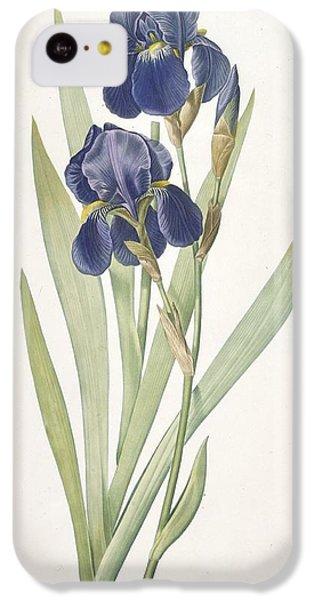 Iris Germanica Bearded Iris IPhone 5c Case by Pierre Joseph Redoute