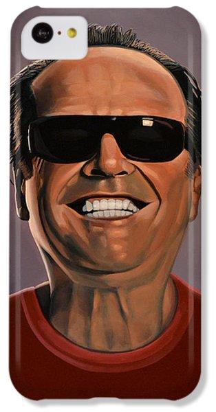 Jack Nicholson 2 IPhone 5c Case by Paul Meijering