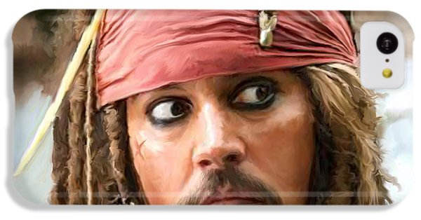 Jack Sparrow IPhone 5c Case by Paul Tagliamonte