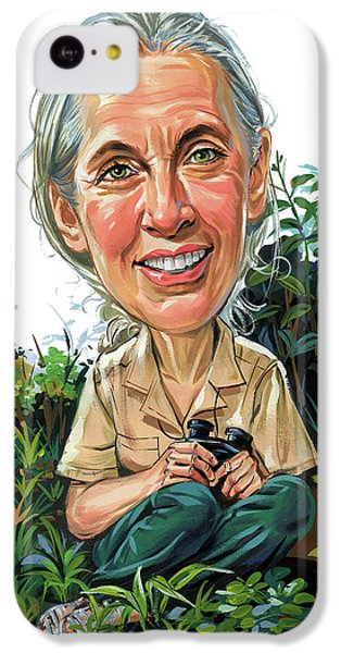 Jane Goodall IPhone 5c Case by Art