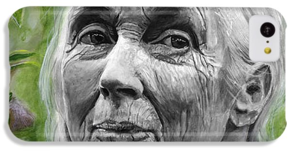 Jane Goodall IPhone 5c Case by Simon Kregar